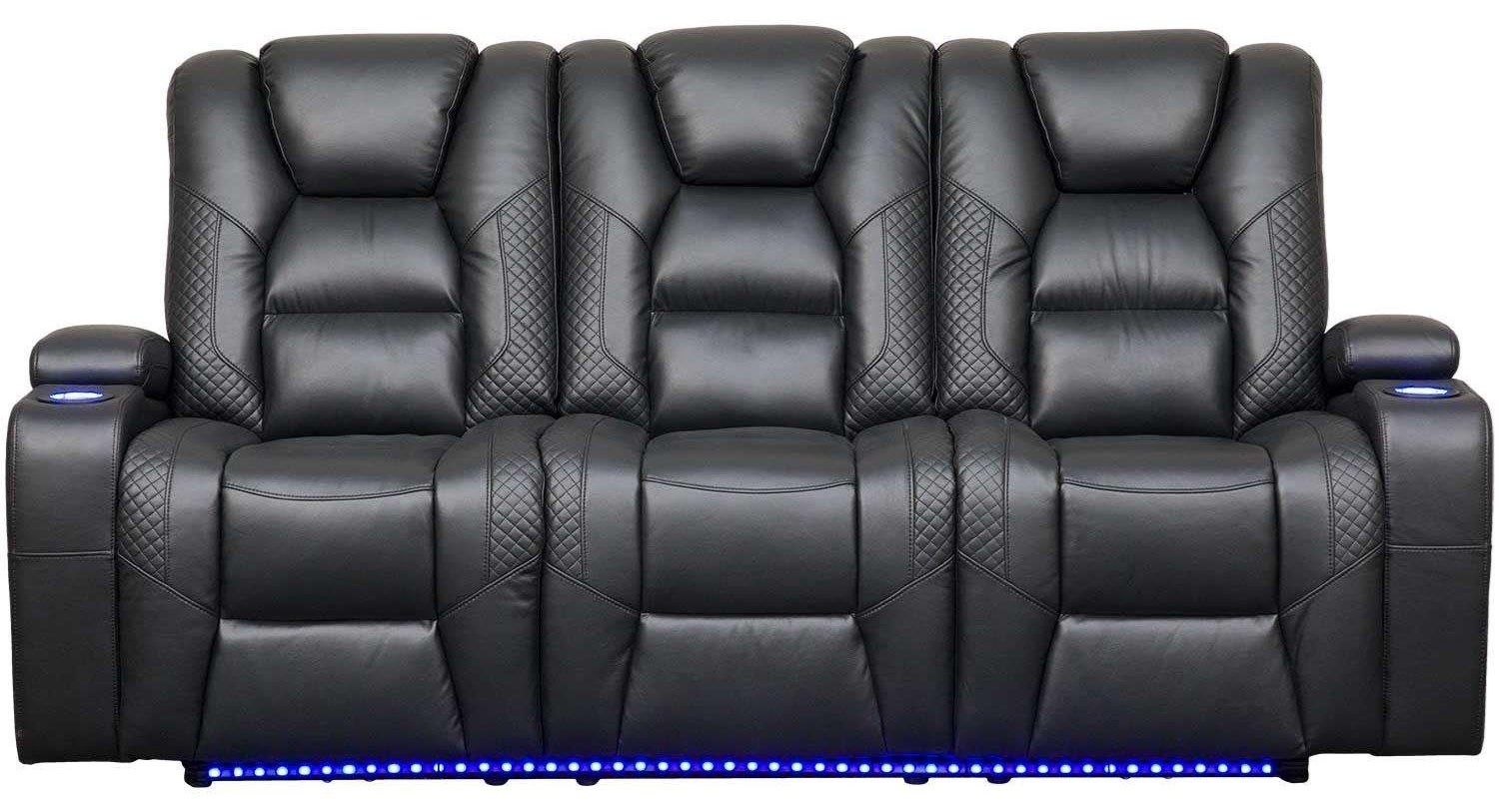 549 Power Reclining LED Sofa by Synergy Home Furnishings at Beck's Furniture