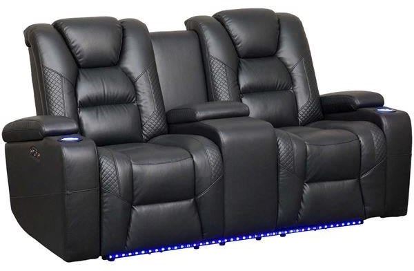 549 Power Reclining LED Loveseat by Synergy Home Furnishings at Beck's Furniture