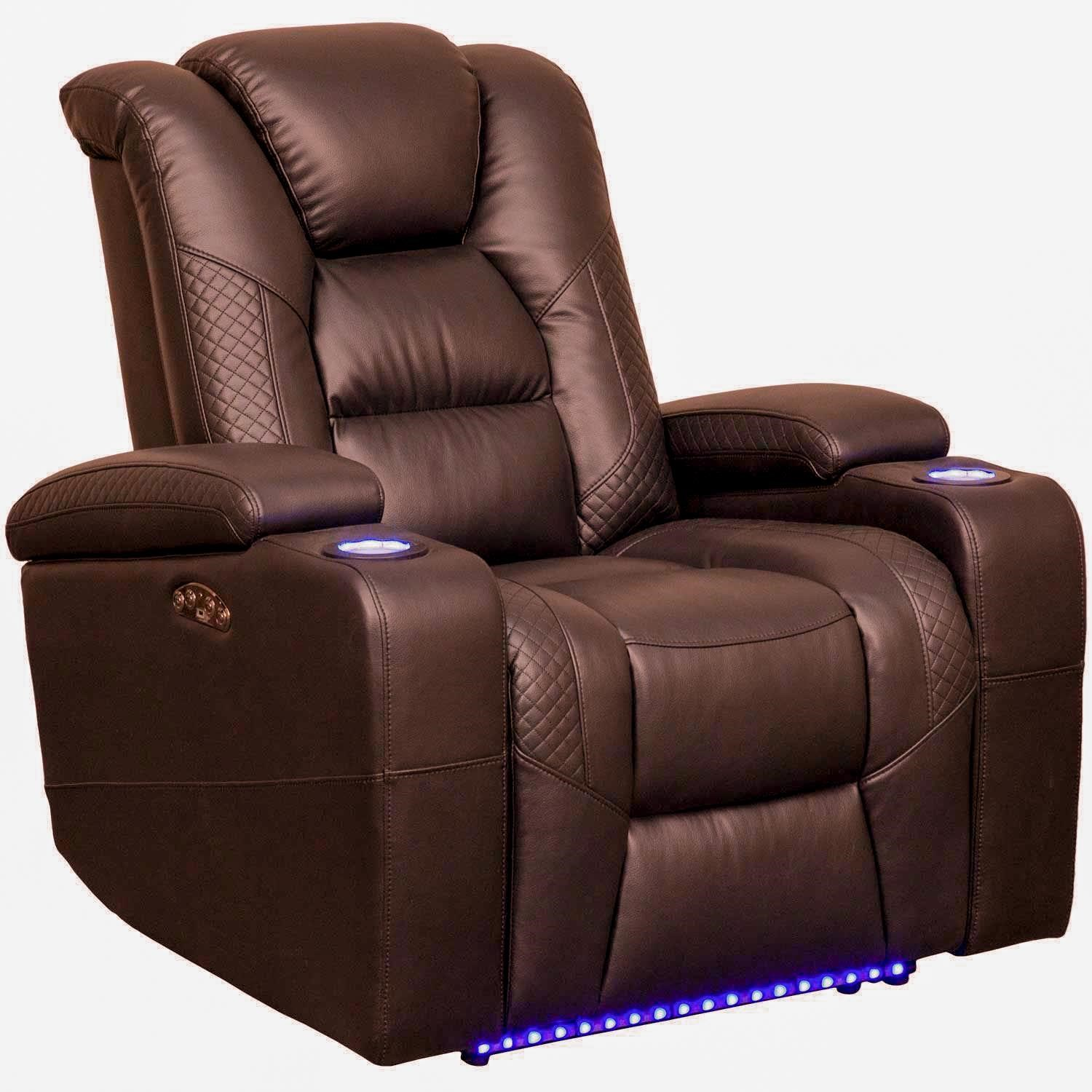 549 Power Reclining LED Recliner by Synergy Home Furnishings at Beck's Furniture
