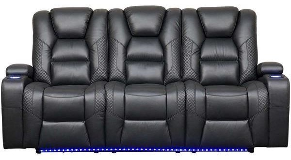 Apollo Power Reclining Sofa w/ Power Headrest by Zeal at Walker's Furniture