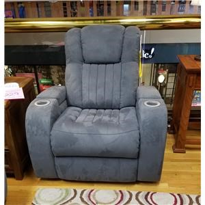 Power Recliner with Power Headrest in Veritas Graphite