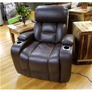 Power Space Saver Recliner with Power Headrest in Barron Saddle