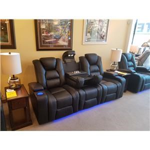 Power Reclining, Power Headrest Sofa in Larue Prospect Midnight