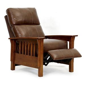 Three Way Recliner with Push Thru Arms