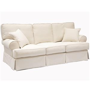 Casual Sofa with Rolled Sock Arms