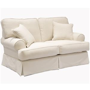 Casual Love Seat with Rolled Sock Arms