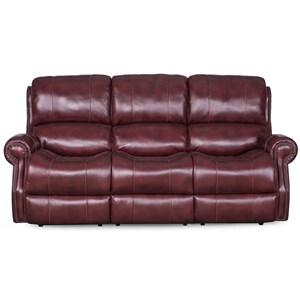 Power Reclining Sofa with Nailhead Trim