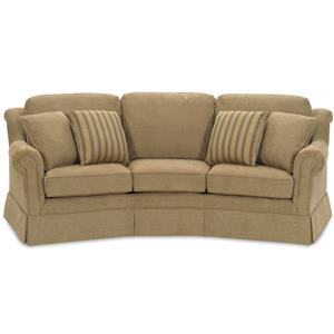 Traditional Conversation Sofa with Skirted Base