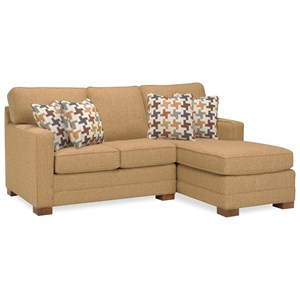 Casual Sofa with Right Arm Facing Chaise