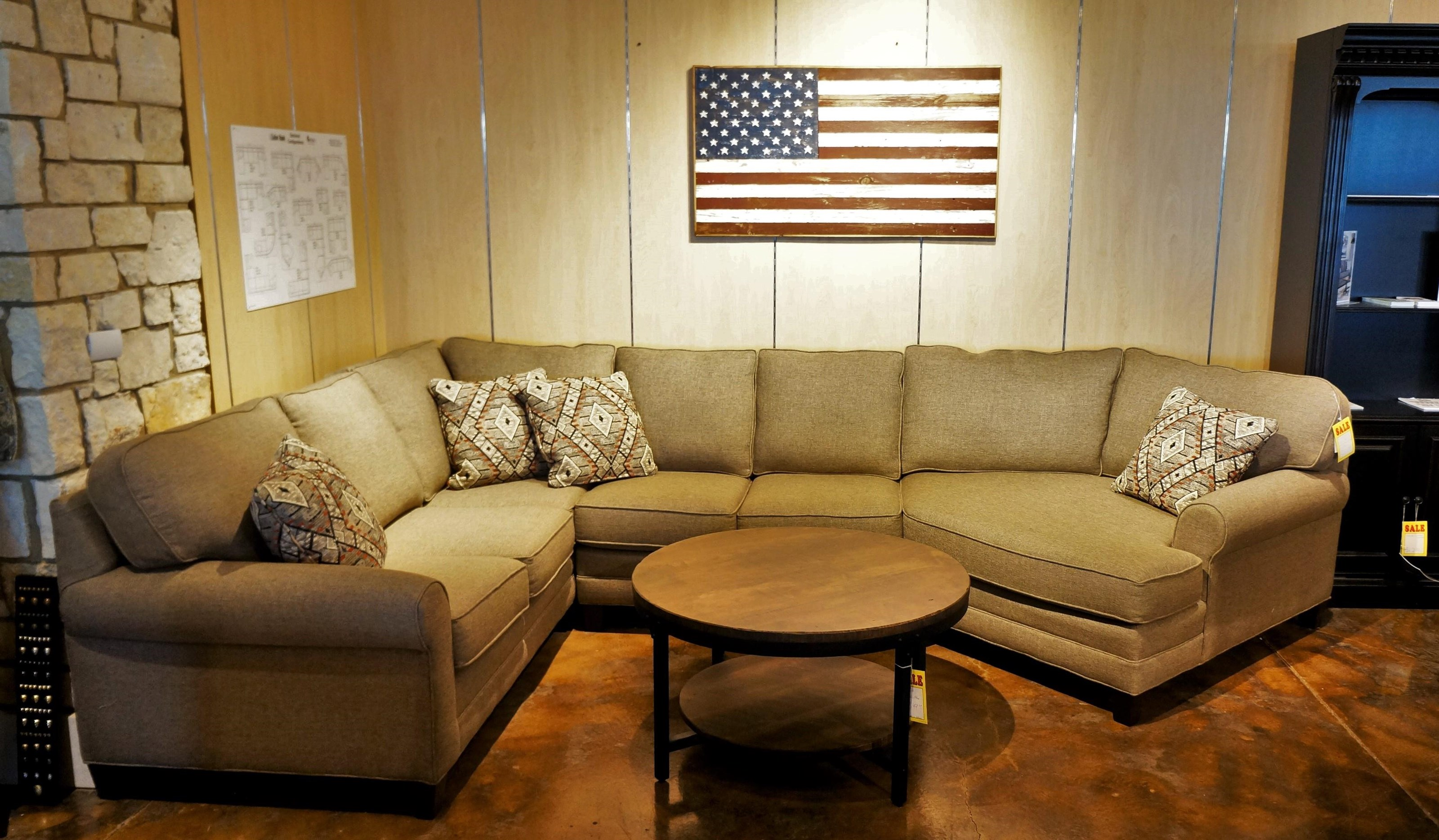Tailor Made Sectional with Cuddle by Temple Furniture at Mueller Furniture