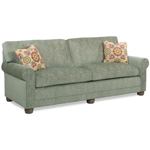 Casual Sofa with Loose Pillow Back and Bun Feet