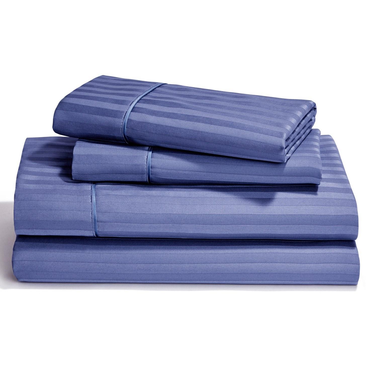 Egyptian Cotton Sheet Sets Split King Denim Flat Sheet Set by Tempur-Pedic® at Sparks HomeStore