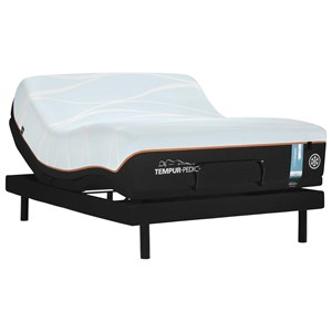 Cal King Firm Tempur Material Mattress and TEMPUR-ERGO EXTEND Adjustable Base