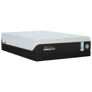King TEMPUR-LUXEbreeze°™ Firm Mattress and Tempur-Flat Low Profile Foundation