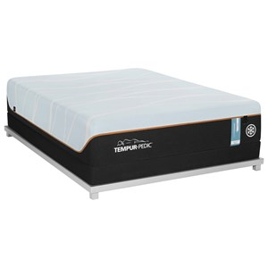 Cal King Firm Tempur Material Mattress and Tempur-Flat High Profile Foundation