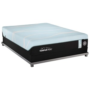 Queen Medium Hybrid Mattress and Tempur-Flat High Profile Foundation
