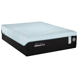 King TEMPUR-PRObreeze°™ Medium Hybrid Mattress and Tempur-Flat High Profile Foundation