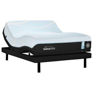 Queen Medium Tempur Material Mattress and TEMPUR-ERGO EXTEND Adjustable Base
