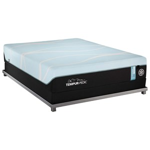 King Medium Tempur Material Mattress and Tempur-Flat High Profile Foundation