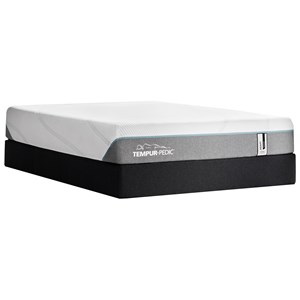 "Twin 11"" Tempur-Adapt Medium Hybrid Mattress and Tempur-Flat High Profile Foundation"