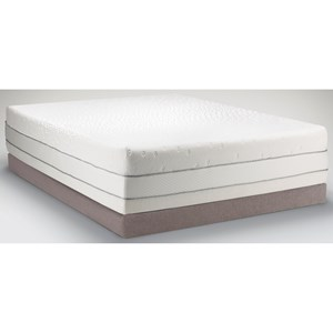 King Medium Firm to Soft Mattress and Low Profile Tempur-Flat Grey Foundation