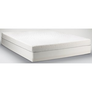 Cal King Firm to Medium Soft Mattress and High Profile Grey Foundation