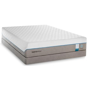 Queen Soft Mattress and Grey High Profile Foundation