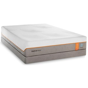 Twin Extra Long Medium-Firm Mattress and Grey Low Profile Foundation