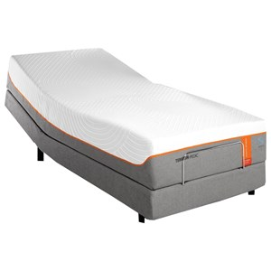 "Queen 13 1/2"" Tempur-Contour Luxe Breeze Firm Mattress and TEMPUR-ERGO EXTEND Adjustable Base"