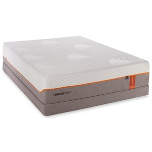 Twin Extra Long Contour Rhapsody Luxe Mattress and Low Profile Grey Foundation