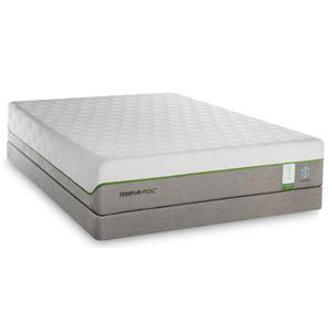 King Medium Plush Mattress and Low Profile Foundation