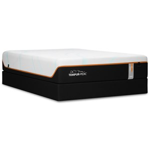 "King 13"" Firm Luxury Mattress and Tempur-Flat High Profile Foundation"