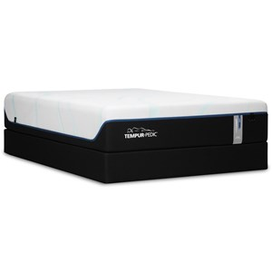 "King 13"" Soft Luxury Mattress and Tempur-Flat High Profile Foundation"