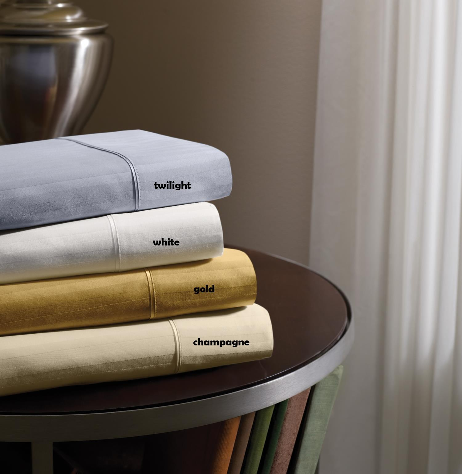 Dimension IV Tempur-Pedic Champagne Twin Sheet Set by Tempur-Pedic® at HomeWorld Furniture