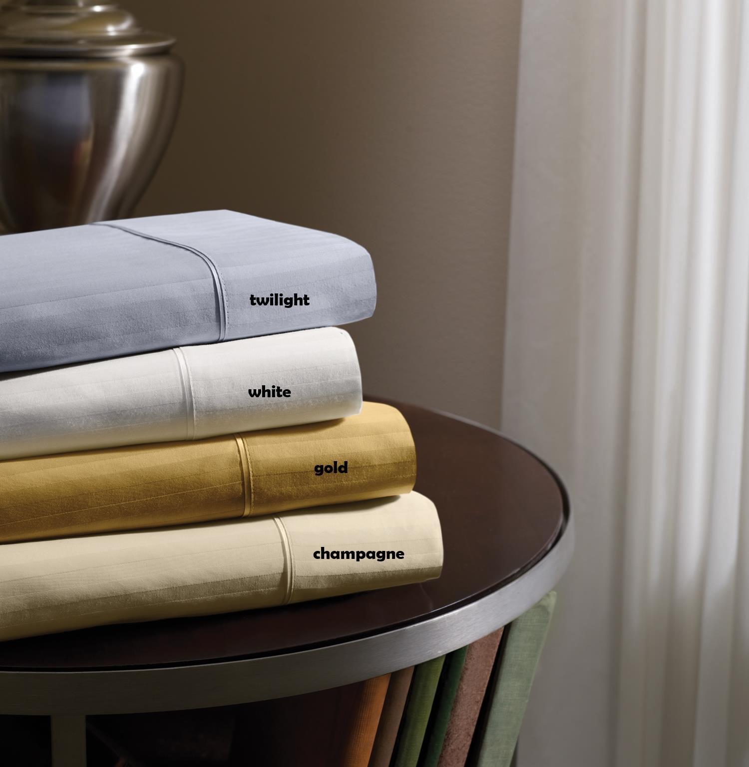 Dimension IV Tempur-Pedic Champagne King Sheet Set by Tempur-Pedic® at HomeWorld Furniture