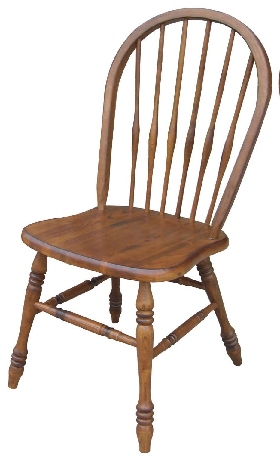Burnished Walnut Arrowback Chair by Tennessee Enterprises at Westrich Furniture & Appliances