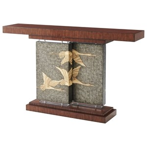 Flight Console Table with Flying Cranes Motif
