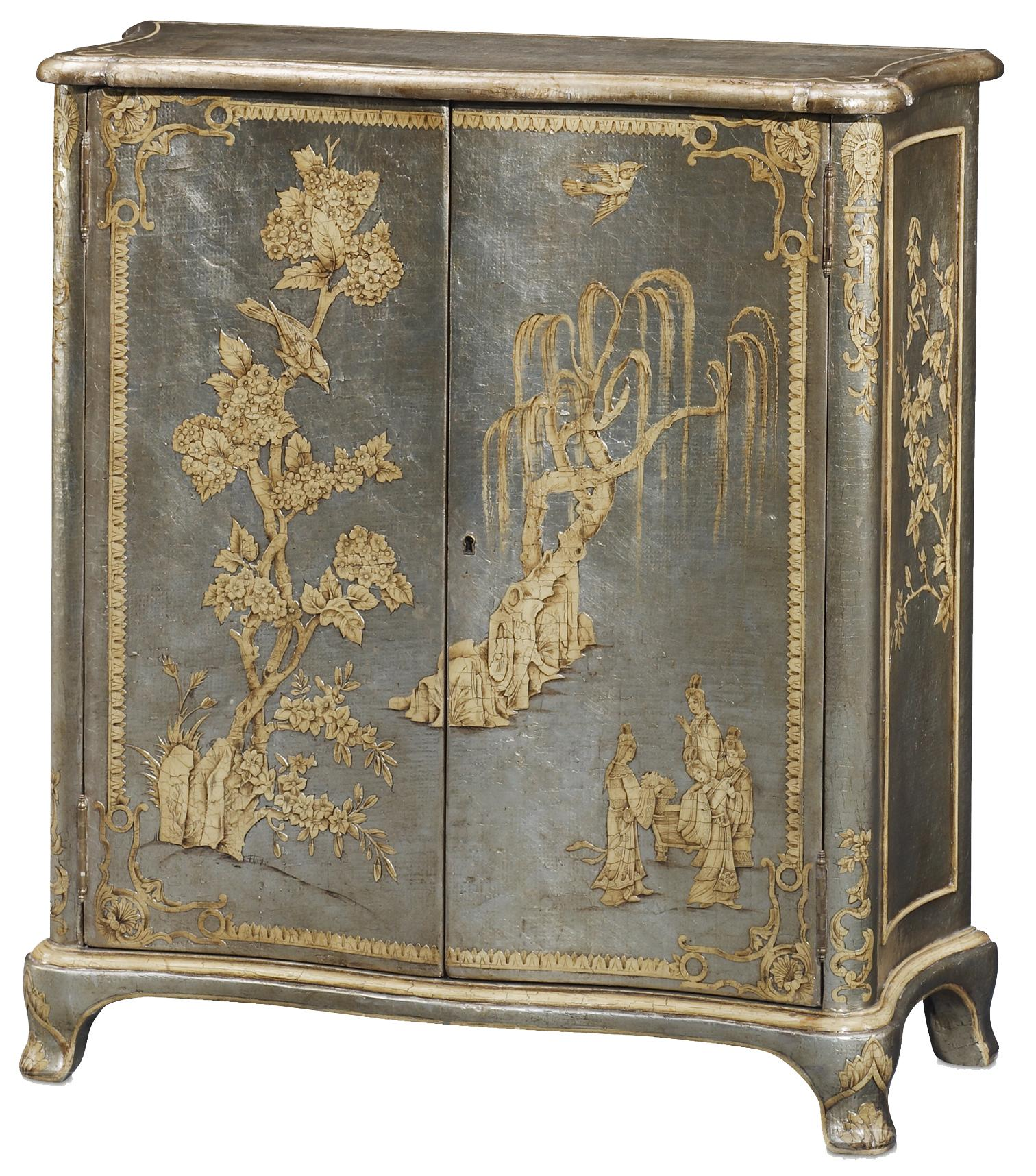 Argento Blossom Cabinet by Theodore Alexander at Alison Craig Home Furnishings