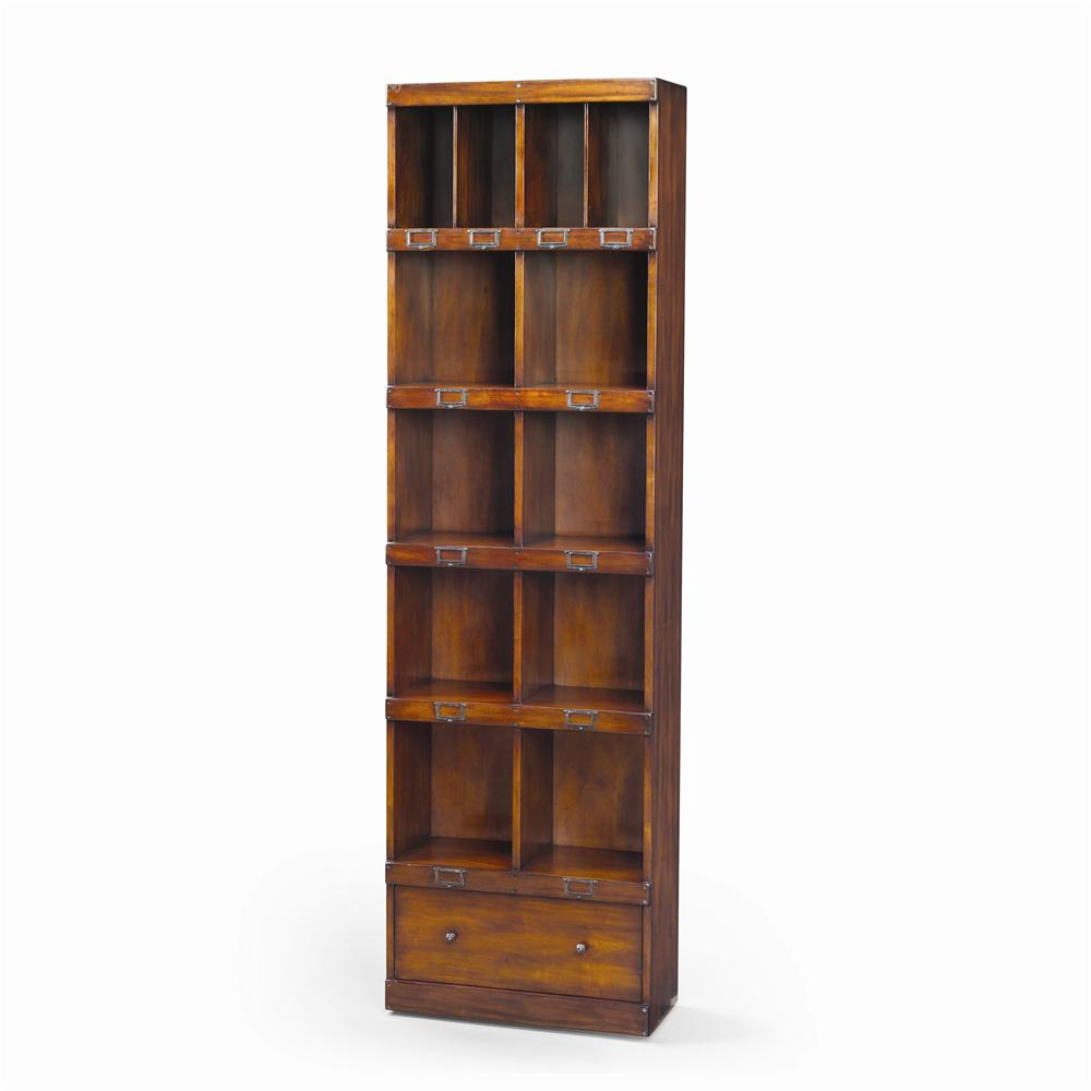 Bookcases Victorian Walnut Campaign Office Bookcase by Theodore Alexander at Baer's Furniture