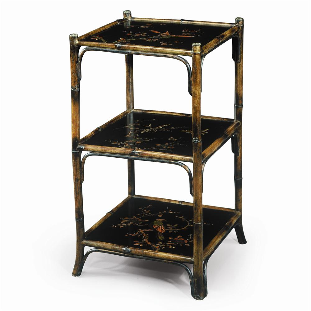 Bookcases Chinoiserie Hand Painted Etagere by Theodore Alexander at Alison Craig Home Furnishings