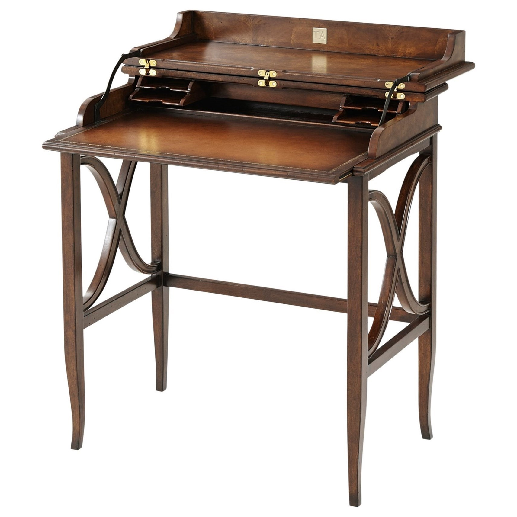Brooksby Brooksby's Campaign Desk by Theodore Alexander at Baer's Furniture