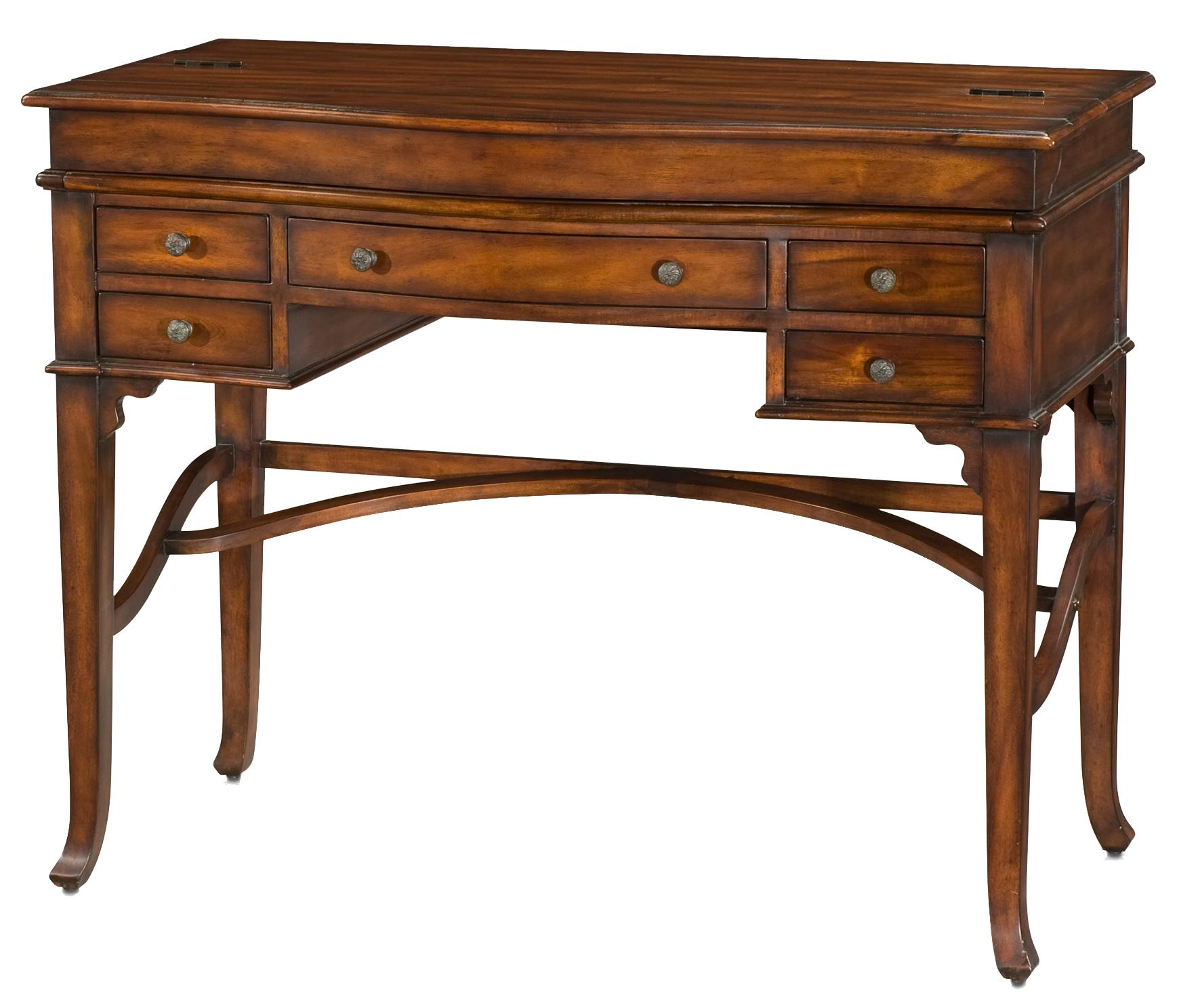 Campaign Lift Top Table Desk by Theodore Alexander at Baer's Furniture