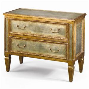 Paneled Chest with 2 Deep Drawers