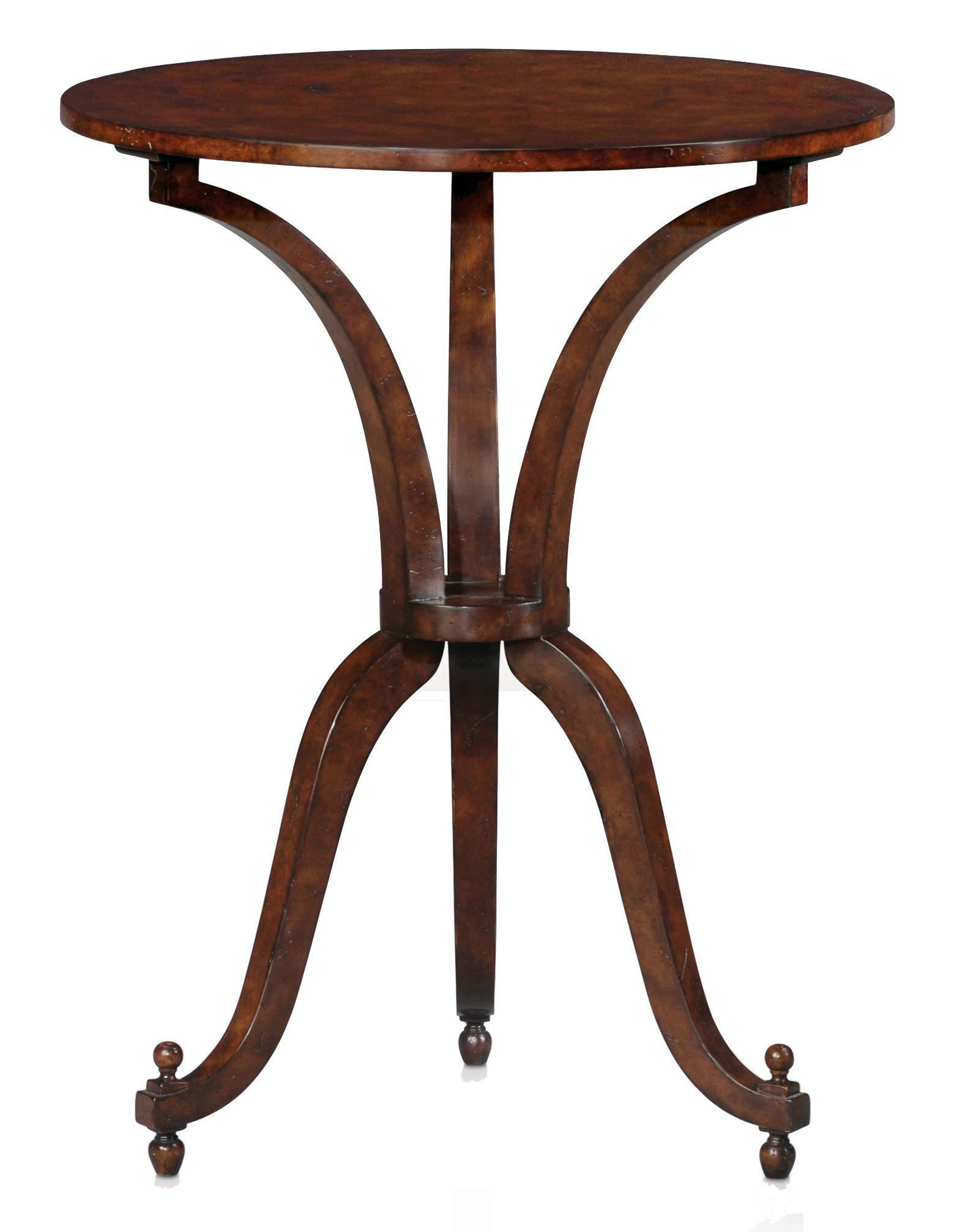 Classic yet Casual Round Table by Theodore Alexander at Baer's Furniture