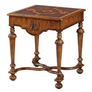 Mary's Square Lamp Table with Top Drawer