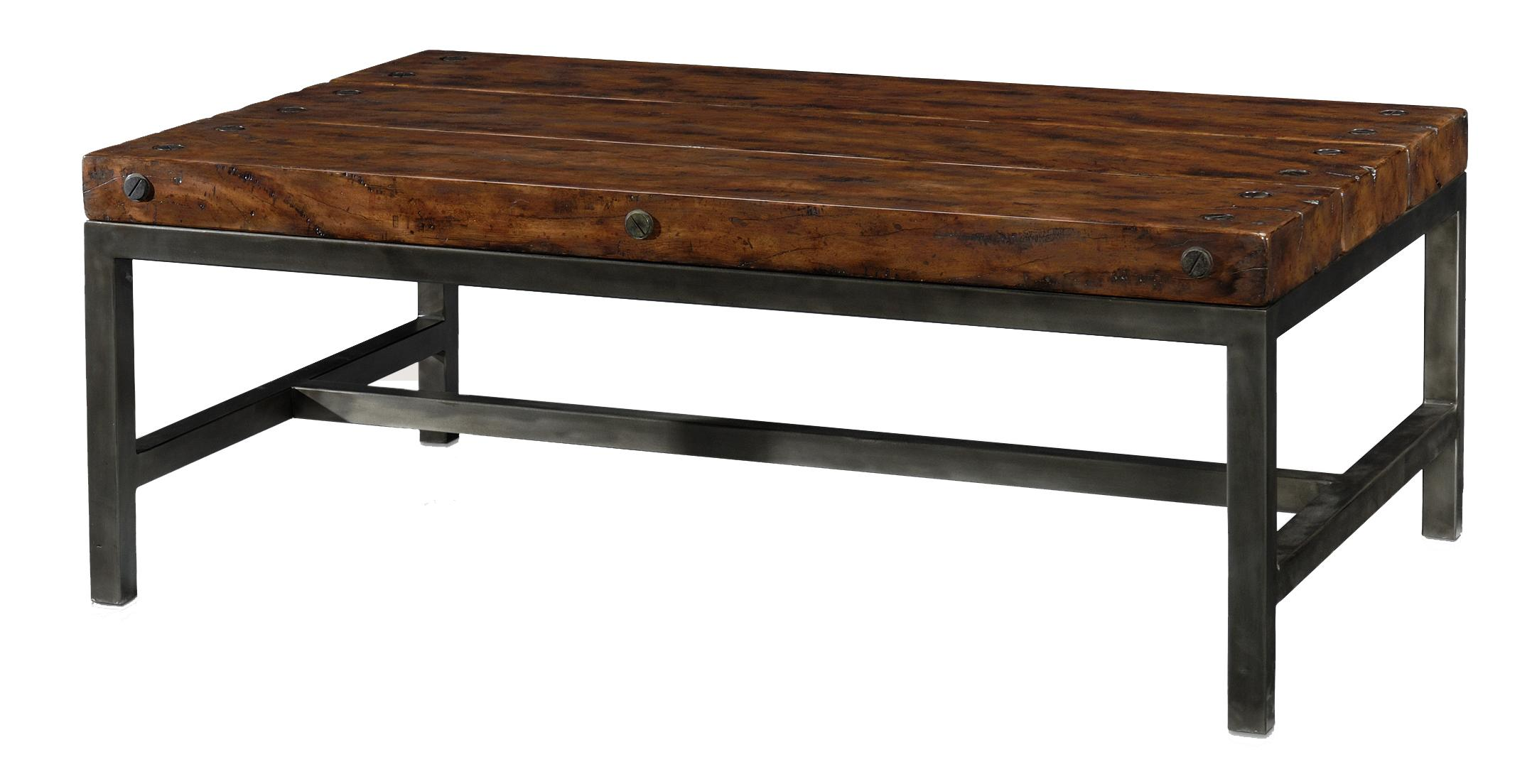 Classic yet Casual Rectangular Cocktail Table by Theodore Alexander at Baer's Furniture