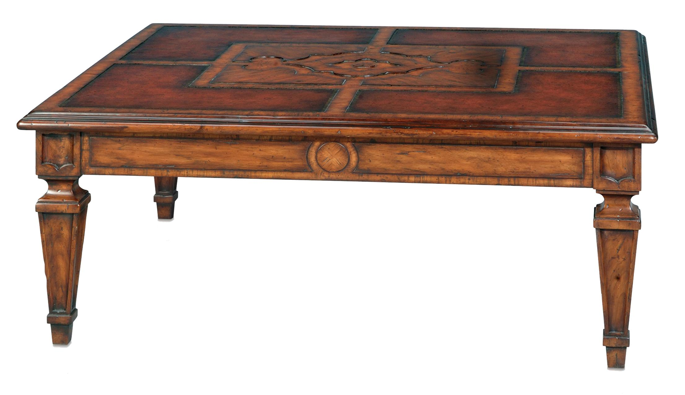 Classic yet Casual Italian Garden Cocktail Table by Theodore Alexander at Baer's Furniture