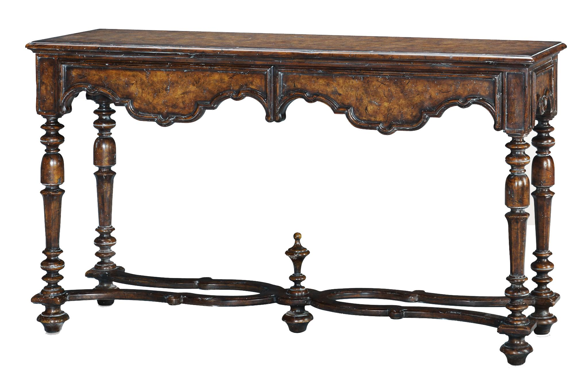 Classic yet Casual Italian Villa Console Table by Theodore Alexander at Baer's Furniture