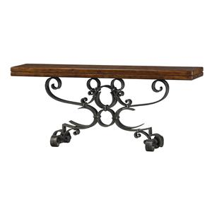 Iron Console Table with Scroll Base