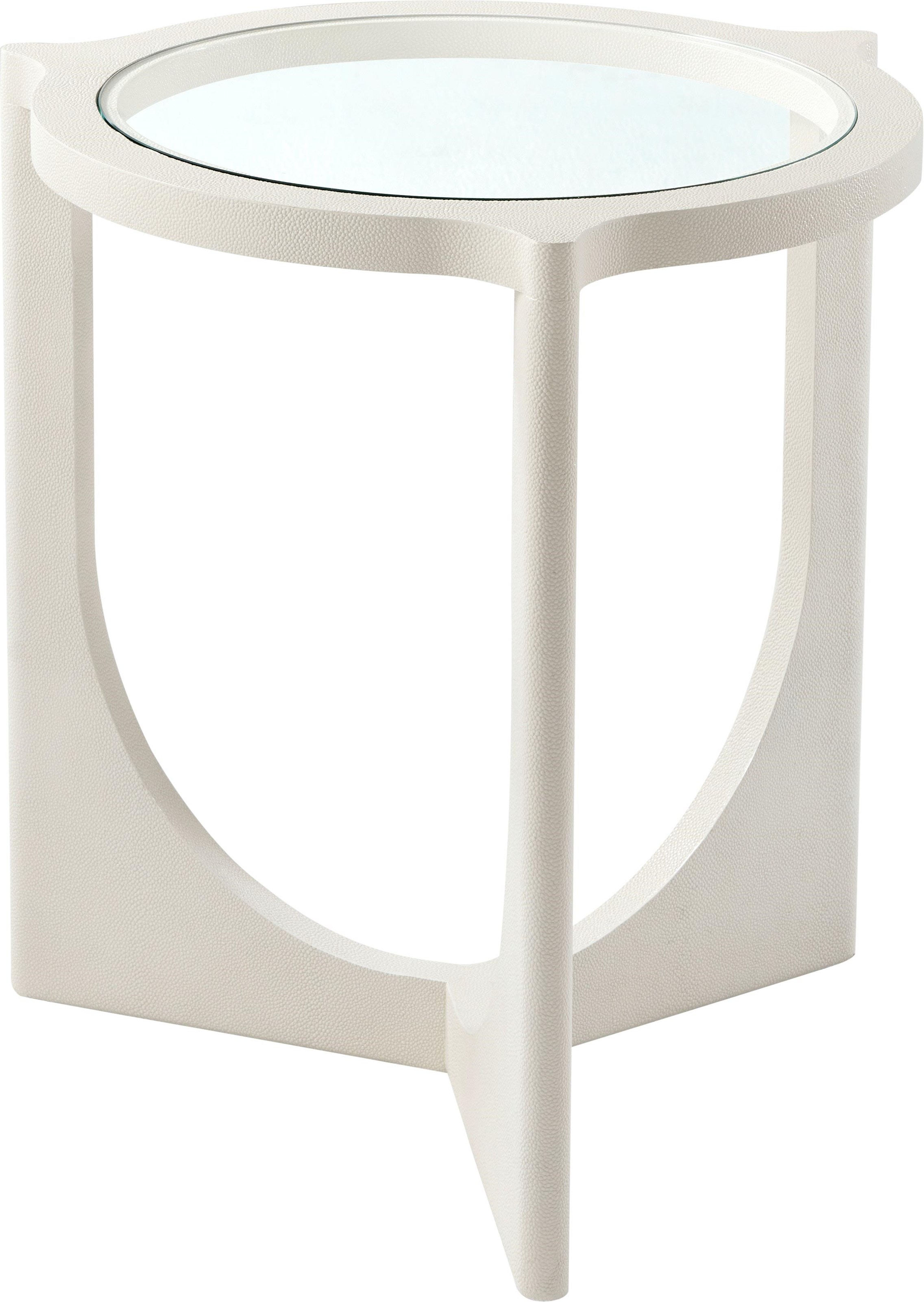 Composition Side Table by Theodore Alexander at Baer's Furniture